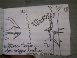 Katina, the impala and the tree